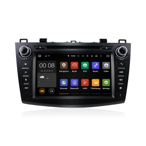 8 Inch Quad-core Android 5.1.1 Built-in WiFi Bluetooth Car DVD Player for New Mazda 3 - Black