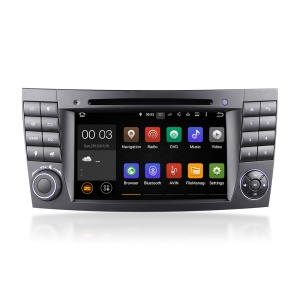 "7"" Screen Android 5.1.1 Quad-core WiFi Bluetooth Car DVD Player for Mercedes E-Class W211 2002-2009 - Black"