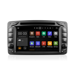 "7"" Touch Screen Android5.1.1 Car Navi DVD Player with GPS Radio Bluetooth for Mercedes Benz C Class - Black"