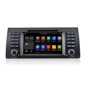 7 Inch Touch Screen Android5.1.1 Quad-core Car DVD Player with GPS WiFi Bluetooth for BMW E39 - Black