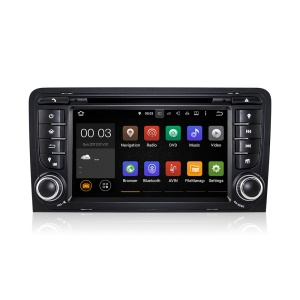 "7"" Touch Screen Android5.1.1 Quad-core Car DVD Player with GPS WiFi Bluetooth for Audi A3 - Black"