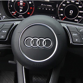 Car Styling Steering Wheel Decoration Circle Cover for Audi A3 A4 A5 (2016) - Silver Color