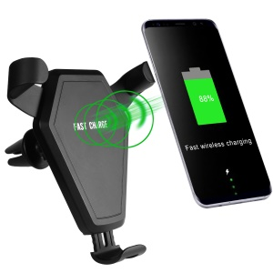 N5-1 Bull Head Shaped Qi Wireless Car Charger Car Air Outlet Mount Qi Wireless Charging Holder