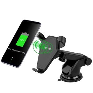 N5-3 Silicone Anti-slip Sucker Qi Wireless Charger with Car Air Vent Mount Holder for iPhone X/8/8 Plus Etc.