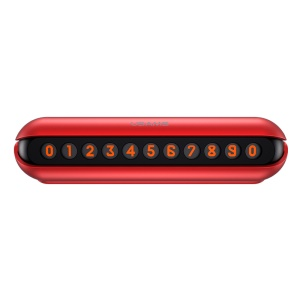 USAMS US-ZJ033 Magnet Temporary Parking Card Florescent Phone Number Card Car Sticker - Red