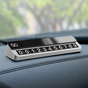 CAFELE Magnet Temporary Parking Card Phone Number Card Plate Car Sticker - Silver