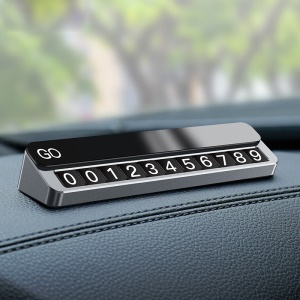 CAFELE Magnet Temporary Parking Card Phone Number Card Dashboard Car Sticker - Grey