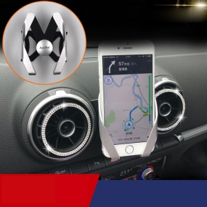 M Shape Car Air Vent Phone Holder Mount for Audi A3/S3(2013-2018) - Silver / Black