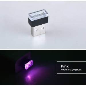 Mini USB LED Cigarette Lighter Car Interior Atmosphere Light Feet Lamp - Purple