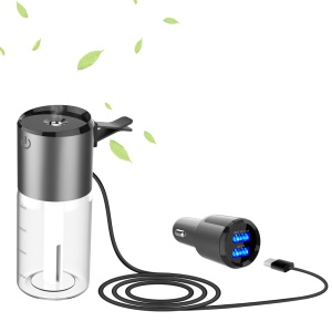Mini 100ML Car Humidifier Air Humidifier + QC3.0 Car Charger with Dual USB Port Car Kit
