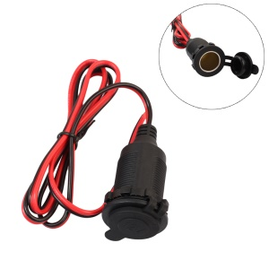 Car Cigarette Lighter Charger cable Female Socket Plug Connector Adapter