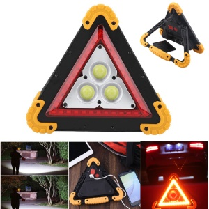 W838 Triangle Car Repair Working Lamp Warning Traffic Light 1600LM 4 Modes