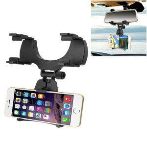 Universal Car Rearview Mirror Phone Holder Mount 360-Degree for iPhone Samsung Huawei GPS Smartphones