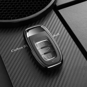 DUX DUCIS 1mm Plating TPU Car Key Case for Audi A4/5/6/Q5/Q7/Q8/R8/RS4/RS5/RS6/RS7/S5/S6/S7/S8/SQ5 - Black