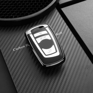 DUX DUCIS 1mm Electroplated TPU Protective Case for BMW 1/2/3/4/5/6/X3/X4/M2/M3/M5/M6 Car Key - Black