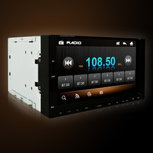 2-DIN 7-inch Touch Screen Bluetooth Car MP5 Player, Support Rear Camera / FM Radio