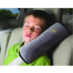 Comfortable Suede Shoulder Pad Car Seat Belt Cushion for Kids Children - Grey