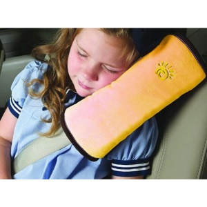 Comfortable Suede Shoulder Pad Car Seat Belt Cushion for Kids Children - Yellow