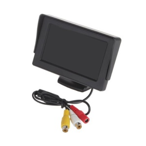 4.3-inch Car Reverse Rearview LCD Monitor with 2 AV-Input