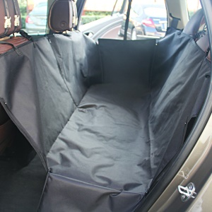 Oxford Fabric Double Layer Car Backseat Pad Waterproof Pet Cover - Black