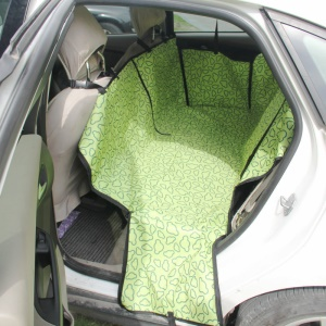 Waterproof Dog Cat Car Seat Cover Oxford Fabric Double Layer Safety Mat - Green Clouds