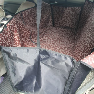 Double Layer Waterproof Cover Pet Dog Cat Car Backseat Mat - Coffee Clouds