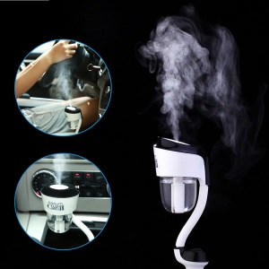 NANUM Car Humidifier II Ultrasonic Aromatherapy Air Humidifier with USB Changer Port - Single USB / Black