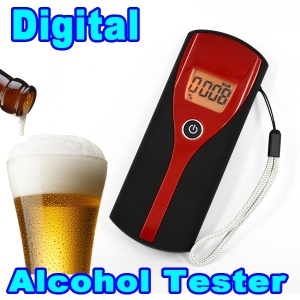 Professional Digital Breath Alcohol Tester Alcohol Meter Analyzer Detector with LCD Display -