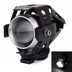 YOUOKLIGHT YK1515 15W 3-Mode Waterproof LED Cold White Motorcycle Headlamp - Black