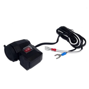 MC202 Waterproof Motorcycle 12V GPS Cigarette Lighter Dual USB Power Socket Charger