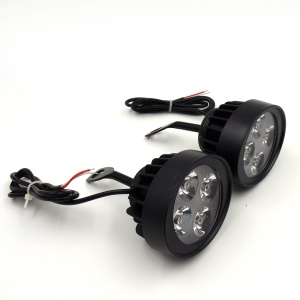 1 Pair 12W Motorcycle Rearview Mirror Lights LED Assist Lamps Spotlights
