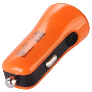 BASEUS Mini 2.1A Two-USB Car Charger for iPhone Samsung Sony LG Etc - Orange