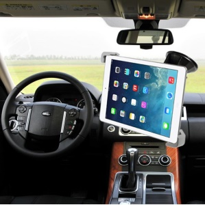 Universal Suction Cup Car Mount Holder for iPad Samsung Etc Tabs, Width: 17.7-27cm