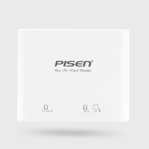 PISEN 3-in-1 USB Memory Card Reader Support SD / CF / TF Card- White