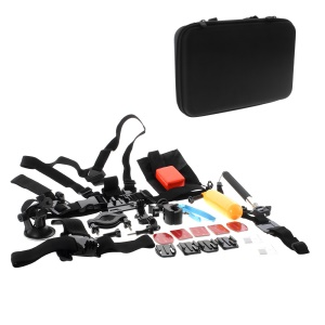 Outdoor Accessories Kit with Chest Strap, Mount, Monopod for GoPro Hero 4/3+/3/2/1 SJ4000/5000/6000