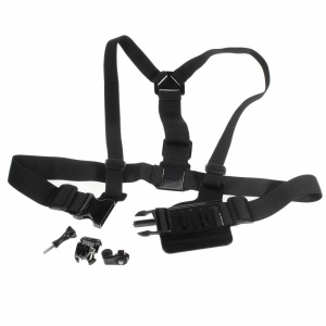 AT-Y03 Detachable Body Chest Strap and J Hook with Screw Lock for GoPro Hero/SJ/XiaoYi Camera