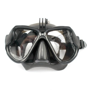 Diving Mask Scuba Goggles Glasses with Camera Mount for GoPro Hero 4/3+/3/2/1 SJ4000/SJ5000 - Black