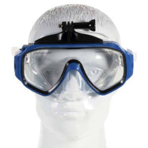 Diving Scuba Dive Mask with Removable Camera Mount for GoPro Hero 4/3+/3/2/1 SJ 4000/SJ5000 - Blue