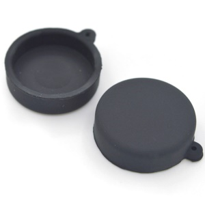 Dustproof Silicone Lens Cap for Xiaomi Yi Action Camera - Black