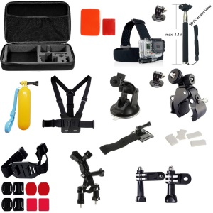 36-in-1 Outdoor Accessories Kit with Chest Belt, Headstrap, Monopod for GoPro Hero 4/3+/3/2/1 SJ4000/5000/6000 Xiaomi Yi