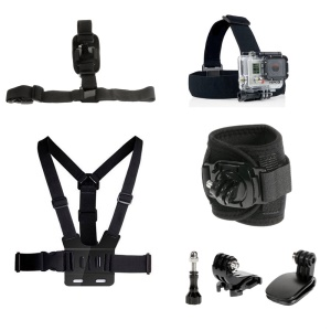 7-in-1 Mount Accessories Set with Headstrap, Chest Belt, Wrist Strap for GoPro Hero 4/3+/3 SJ4000 Xiaomi Yi