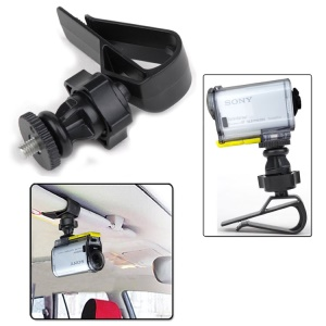 GP154 Car Sun Visor Clip Bag Clamp for GoPro HERO 4/3+/3/2/1/SJ4000/SJ5000/SJ6000/Xiaomi Yi
