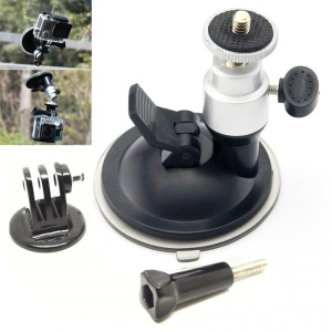 GP51-1 Car Suction Cup Mount Kit for GoPro HERO 4/3+/3/2/1/SJ4000/SJ5000/SJ6000/Xiaomi Yi