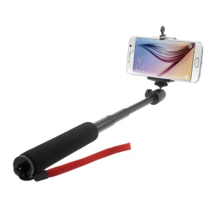 Extendable Selfie Monopod with Tripod Adapter + Phone Clamp for iPhone 6 Samsung S6 Mobile Phones GoPro Hero Cameras