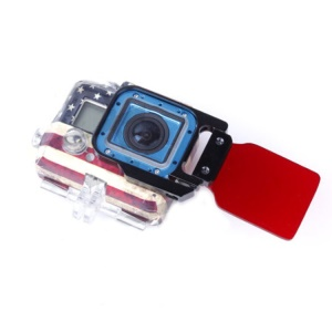 Underwater Diving Filter Lens with Metal Frame for GoPro Hero 3 - Red Color