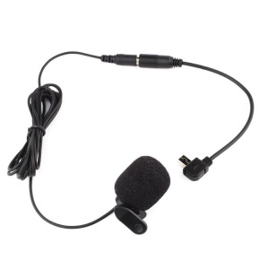 Mini USB Microphone with Clip + Mic Adapter for GoPro Hero 4/3+/3
