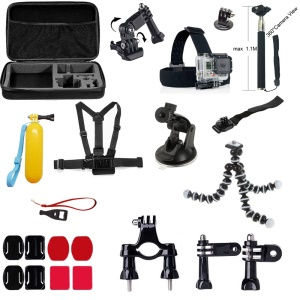 22 in 1 Gopro Accessories Set with Chest Belt, Headstrap for GoPro Hero 4/3+/3/2/1 SJ4000/SJ5000/SJ6000 Xiaomi Yi