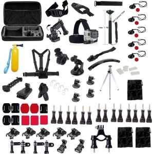 81 in 1 Gopro Accessories Set with Chest Belt, Headstrap and Mounts for GoPro Hero 4/3+/3/2/1 SJ4000/SJ5000/SJ6000 Xiaomi Yi