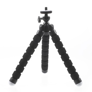 Portable Soft Adjustable Tripod Holder for GoPro Hero 4/3+/3/2/1 SJ4000/5000/6000 Xiaomi Yi - Black