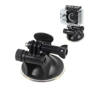 Suction Cup Car Mount Holder with Thumb Screw for GoPro Hero 4 Session/4/3+/3/2/1 SJCMA SJ5000 Xiaomi Yi Etc
